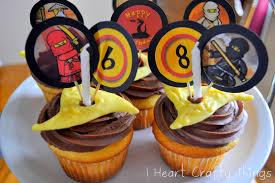 Ninjago Shuriken Cupcakes