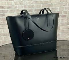 kate spade black leather handbag gently