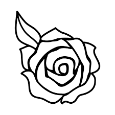 Rose Flower Silhouette Vinyl Sticker Car Decal