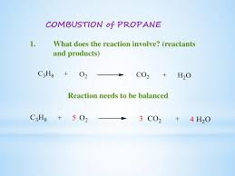 ppt combustion of propane powerpoint