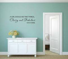 House Of Hampton Great Dunmow A Girl Should Be Two Things Classy And Fabulous Wall Decal Wayfair