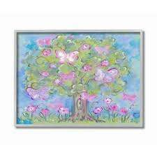 Shop The Kids Room By Stupell The Kids Room By Stupell Pastel Butterfly Tree Grey Framed 16 X 20 Proudly Made In Usa 16 X 20 On Sale Free Shipping Today Overstock 30334594