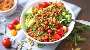 ground turkey taco bowls with