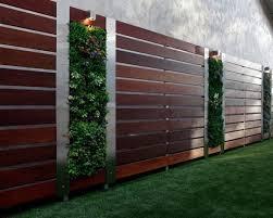 Elegant Wood And Stainless Steel Privacy Fence Sichtschutz Garten Vorgarten Modern Zaun Garten