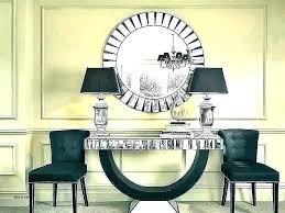 table and mirror set for foyer