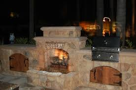 bbq waterfall custom fireplace design
