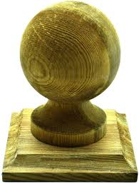 1 Green Treated Finial 3 75mm Ball Base To Suit 3 75mm Fence Post Amazon Co Uk Diy Tools