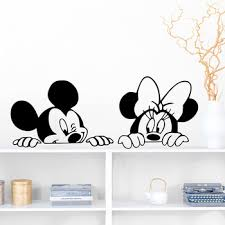 Disney Wall Stickers Lovely Mickey Mouse Minnie Mouse For Kids Room Baby Nursery Bedroom Accessories Car Decals Home Decor Buy At The Price Of 5 39 In Aliexpress Com Imall Com