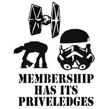 Sith Dark Side Membership Star Wars Decal Sticker