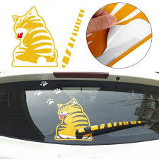 Car Body Window Stickers Funny Cartoon Cat Moving Tail Decal For Pontiac Aztec Bonneville G4 G5 G6 G8 Grand Am Stickers Funny Funny Cartoon Stickerscat Car Decal Aliexpress