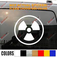 Pick Size Color Radioactive Symbol Radiation Decal Sticker Car Vinyl Die Cut No Background Car Vinyl Sticker Cardecal Sticker Aliexpress