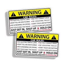 Shop 2pcs Vehicle Rules Funny Car Sticker Truck Window Decal Safety Warning Jdm Auto Online From Best Other Exterior Car Accessories On Jd Com Global Site Joybuy Com