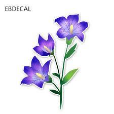 Ebdecal Cartoon Plant Pretty Hibiscus Flowers For Auto Car Bumper Window Wall Decal Sticker Decals Diy Decor Ct10881 Car Stickers Aliexpress