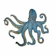 octopus wall decor metal sculpture art