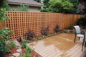 Ground Level Deck Ideas Google Search Lattice Fence Garden Fence Panels Lattice Garden