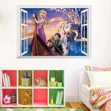 International Gifts Princess Rapunzel S 3d Window Wall Sticker For Kids Girl S Room Home Decoration 3d Wallpaper Mural Art 70 Cm X 50 Cm
