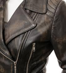 brown leather vintage womens motorcycle