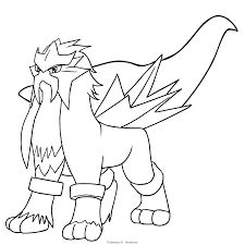 Entei Pokemon Coloring Pages