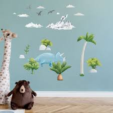 The Cutest Triceratops Dinosaur Wall Stickers For Happy Kids Room Made Of Sundays