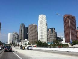 File:Downtown LA skyscrapers along the Interstate 110.jpg ...