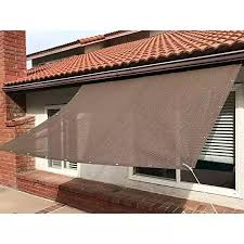 Sun Shade Mesh Canopy Awning Privacy Screen Window Cover 90 Uv Blocking Hot Resistant Protection Shelter For Gazebo Patio Garden Outdoor Greenhouse Flower Barn Kennel Fence Brown Lazada Ph