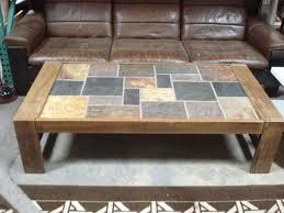 heavy wenge and slate tile coffee table