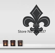 Fleur De Lis Wall Decal Home Decor Living Room E Co Friendly Vinyl Wall Stickers Removable Decals Art Wallpaper Bedroom Zb075 Decoration Living Room Wall Decalssticker Remover Aliexpress