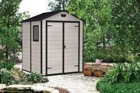 plastic storage shed horizontal 6ft x