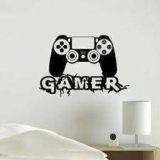 Playstation Joystick Game Gaming Vinyl Decal Sticker Wall Home Decoration Hallo Ebay