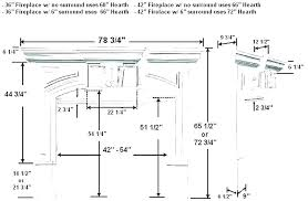 height average of fireplace mantel