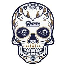 Applied Icon Nfl Los Angeles Rams Outdoor Skull Graphic Large Nfos1703 The Home Depot