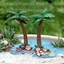 palm trees set of two beach themed