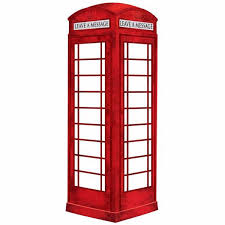 london phone booth dry erase message