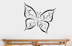 Winston Porter Butterfly Live Laugh Love Vinyl Words Wall Decal Wayfair