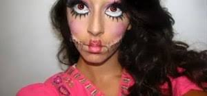 super creepy patchwork doll makeup look