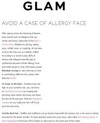 avoid a case of allergy face
