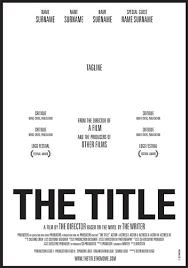 31+ Film Poster Name Png  Pics