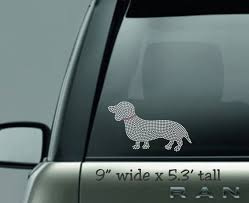 Wiener Dog Decal Rhinestone Decal Dachshund Decal Car Sticker Bling Dog Dog Decal Dog Lover Dog Owner Dog Mom Unicorn Mom Tshirt Time