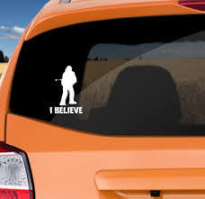 I Believe Chewbacca Bumper Sticker Decal Funny Play On Bigfoot Sasquatch I Believe Car Truck Window Sticker Wish
