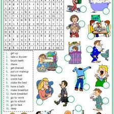 action verbs voary esl word search