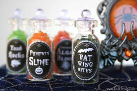 mini potion bottles with a printable