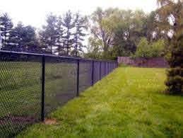 Black Vinyl Coated Chain Link Fence 5ft Fence Design Black Chain Link Fence Chain Link Fence Cost