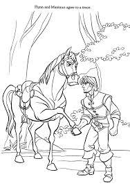 Tangled Maximus Coloring Pages Evkd Kleurplaten Paarden Knutselen