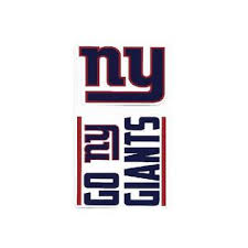 Rico New York Giants Double Up Die Cut Vinyl Stickers