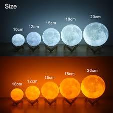 Buy New Moon Planetarium Lamp Usb 3d Light Fixtures For Kids Bedroom Decoration Online