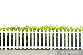 White Picket Fence Strip With Green Garden Bushes Wall Mural Pixers We Live To Change