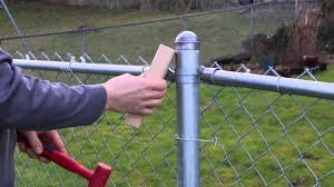How To Remove Stuck Cap On Your Chain Link Fence Youtube