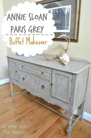 paris grey buffet table at home with