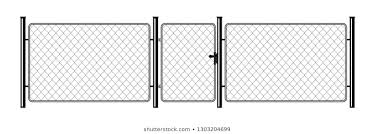 Metal Chain Link Fence Art Design Stock Vector Royalty Free 1303204699
