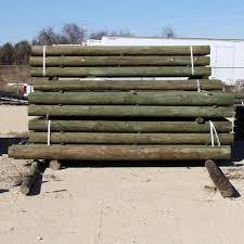 Wood Fence Post 10 Ft L X 6 In Dd Farm Ranch